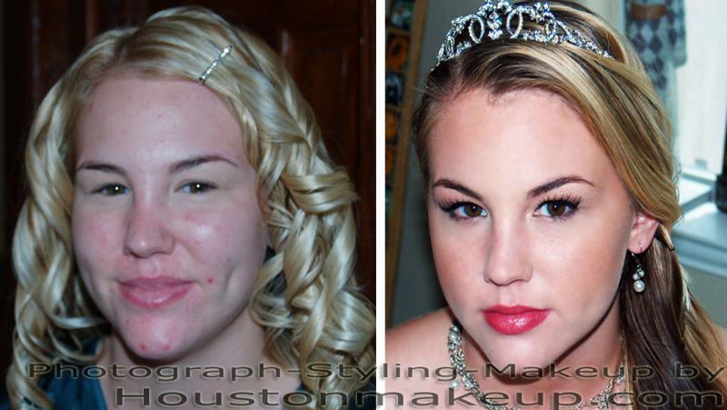 Airbrush Makeup, before and after