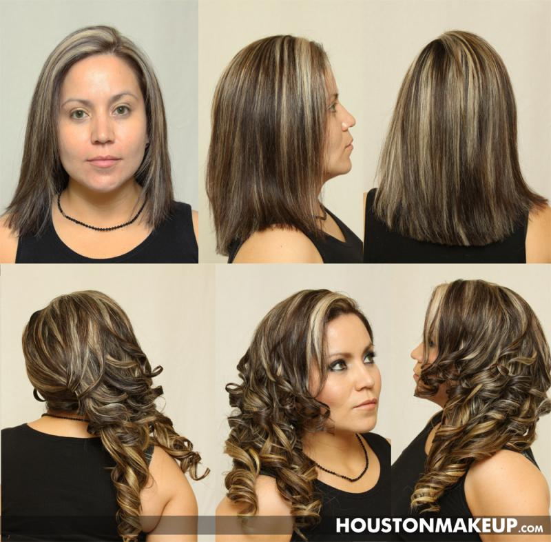 Hair Extensions, Airbrush Makeup, Hairstyling, Up do